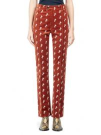 Chlo   - Velvet Horse Embroidered Pants at Saks Fifth Avenue