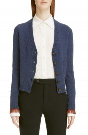 Chlo   Fringe Cuff Cashmere Cardigan at Nordstrom