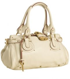 Chloand233 and39Paddingtonand39 Leather Padlock Satchel in cream at Nordstrom