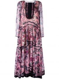Chloe floral tiered maxi dress at Farfetch