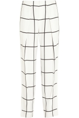 Chloe check trousers at Net A Porter