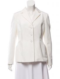 Christian Dior Structured Notched Lapel Blazer at The Real Real