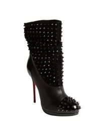 Christian Louboutin Spike Detail Boots at Bluefly