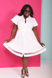 Christian Siriano for Lane Bryant White Shirtdress at Lane Bryant