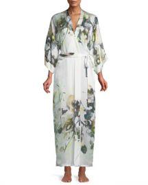 Christine Designs Limelight Long Silk Robe at Neiman Marcus