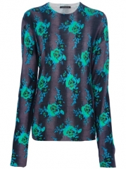 Christopher Kane Floral Print Sweater - at Farfetch