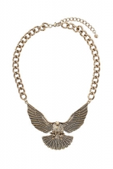 Chunky eagle necklace at Topshop