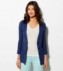 Chunky waffle knit cardigan at American Eagle