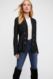 Cinched Waist Linen Blazer by Free People at Free People