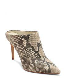 Cinda Snake-Embossed Leather High-Heel Mules at Bloomingdales