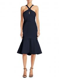 Cinq    Sept - Dante Fit- -Flare Halter Dress at Saks Fifth Avenue