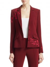 Cinq    Sept - Gabrielle Floral Embroidered Blazer at Saks Fifth Avenue