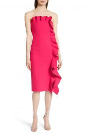Cinq    Sept Selma Ruffle Trim Strapless Dress at Nordstrom