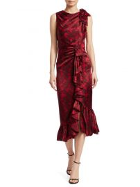Cinq  a Sept Nannon Asymmetric Silk Floral Print Sheath Dress at Saks Fifth Avenue
