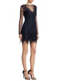 Cinq    Sept - Amabella Feather Dress at Saks Off 5th