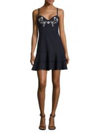 Cinq    Sept - Dara Bustier Embroidered Dress at Saks Off 5th