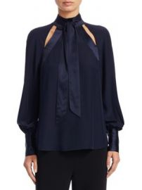 Cinq    Sept - Harper Tie Neck Blouse at Saks Off 5th