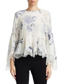 Cinq    Sept - Inky Floral Avalon Top at Saks Fifth Avenue