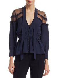 Cinq    Sept - Peyton Tie Neck Blouse at Saks Fifth Avenue