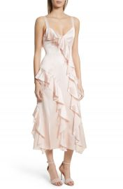 Cinq    Sept Gigi Ruffle   Ostrich Feather Silk Dress at Nordstrom