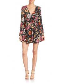 Cinq   Sept - Bianca Silk Floral-Print Wrap Dress at Saks Off 5th