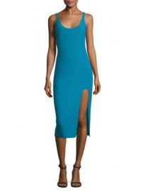 Cinq   Sept - Breena Slit Midi Dress at Saks Fifth Avenue