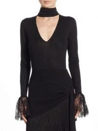Cinq   Sept - Elara Long Sleeve Bodysuit at Saks Fifth Avenue