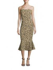 Cinq   Sept - Leopard Strapless Luna Dress at Saks Fifth Avenue