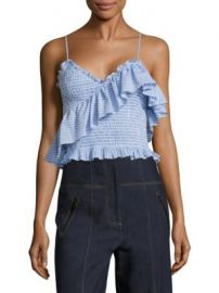 Cinq   Sept - Mara Cotton Poplin Cropped Top at Saks Fifth Avenue