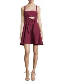 Cinq   Sept - Nyma Tie-Front Fit- -Flare Dress at Saks Off 5th