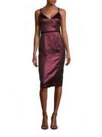 Cinq   Sept - Soleil Metallic V-Neck Dress at Saks Off 5th