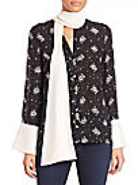 Cinq   Sept - Stardust Rowan Silk Floral Top at Saks Fifth Avenue