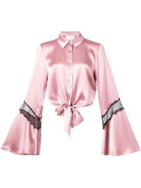 Cinq A Sept Flared Lace Panel Sleeves Shirt with Tie Waist  365 - Buy SS18 Online - Fast Global Delivery  Price at Farfetch