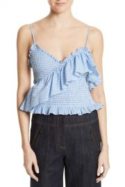 Cinq a Sept   Cinq   Sept Mara Smocked Top   Nordstrom Rack at Nordstrom Rack