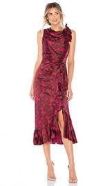 Cinq a Sept Nanon Dress in Rhubarb  amp  Camilla Red from Revolve com at Revolve