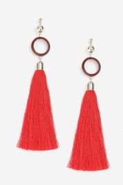 Circle and Tassel Drop Earrings at Topshop