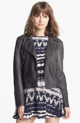Circus by Sam Edelman Distressed Faux Leather Jacket at Nordstrom