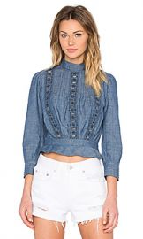 Citizens of Humanity Josie Top in Chambray from Revolve com at Revolve