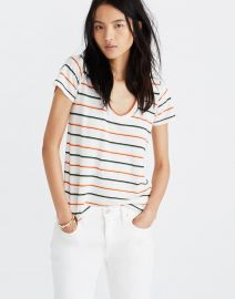 City Tee in Walcott Stripe by Madewell at Madewell