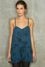 Clara's blue playsuit at Urban Outfitters