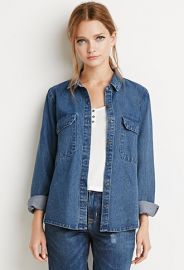 Classic Denim Shirt  Forever 21 - 2000178857 at Forever 21