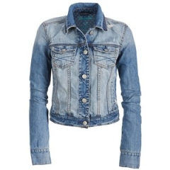 Classic Destroyed Denim Jacket at Aeropostale
