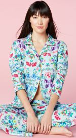Classic Stretch PJ Set in Floral Wonderland at BedHead