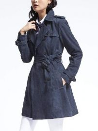 Classic Suede Trench at Banana Republic