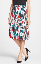 Classiques Entierand174 Print Pleat Skirt at Nordstrom