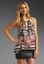 Claudia Cascade Ruffle Top by BCBGMAXAZRIA at Revolve