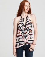 Claudia cascade ruffle top by bcbg at Bloomingdales