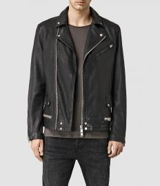Clay Leather biker Jacket at All Saints