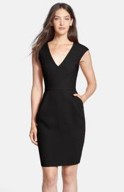 Clove Woven Sheath Dress in black at Nordstrom