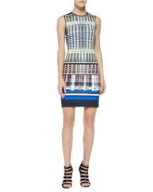 Clover Canyon Donegal Mixed-Print Sleeveless Dress at Neiman Marcus